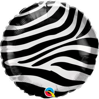 Ballon aluminium 18 pouces zèbre