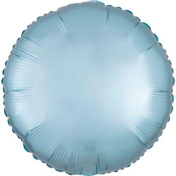 Ballon aluminium 43cm satin luxe bleu pastel