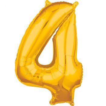 Ballon aluminium chiffre 4 or 66cm