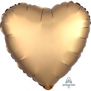 Ballon aluminium coeur or 43cm