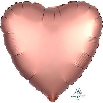 Ballon aluminium coeur rose gold 43cm