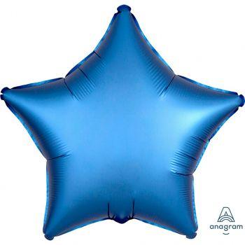 Ballon aluminium étoile azur 43cm