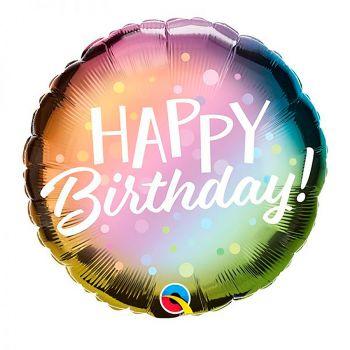 Ballon aluminium happy birthday  métallique l 45cm