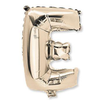 Ballon aluminium lettre E or 36cm