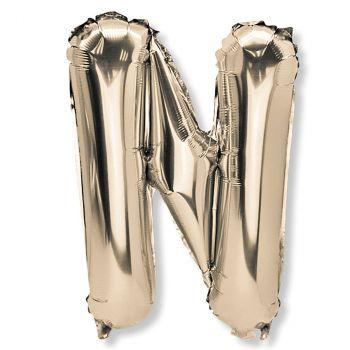 Ballon aluminium lettre N or 36cm