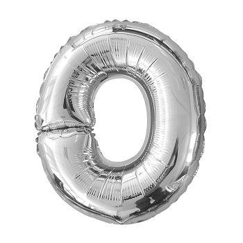 Ballon aluminium lettre O argent 26cm
