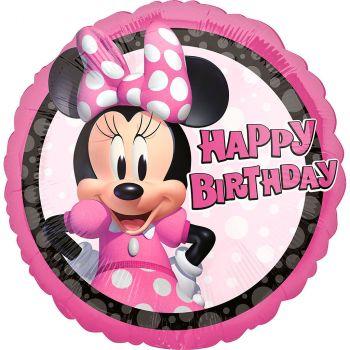 Ballon aluminium Minnie happy birthday