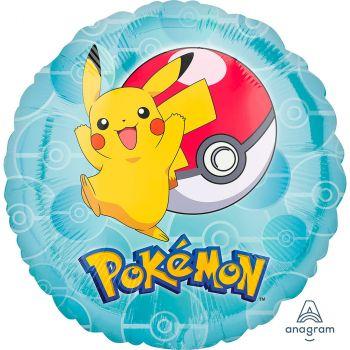 Ballon aluminium rond Pokémon