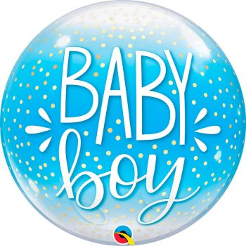 Ballon bubble 22 pouces baby boy