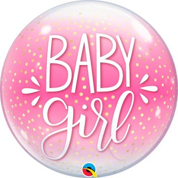 Ballon bubble 22 pouces baby girl