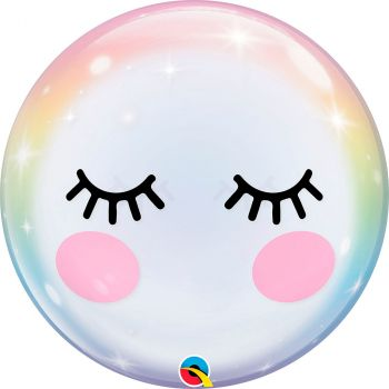 Ballon bubble 22 pouces eyelashes