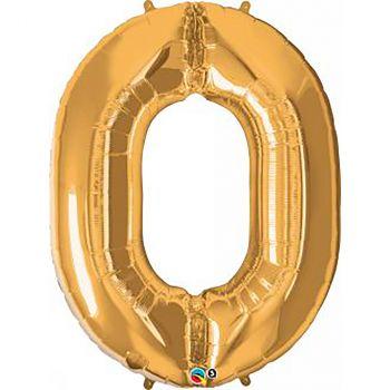 Ballon géant aluminium chiffre 0 or 109cm