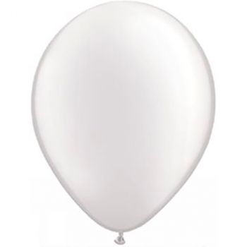 Ballon latex blanc pastel 13cm