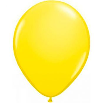 Ballon latex jaune 28cm