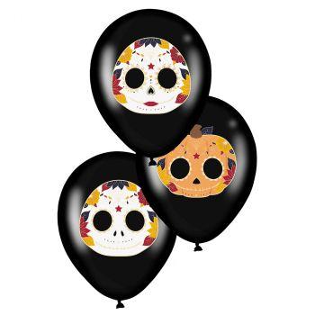 Ballons Dia de los muertos x6