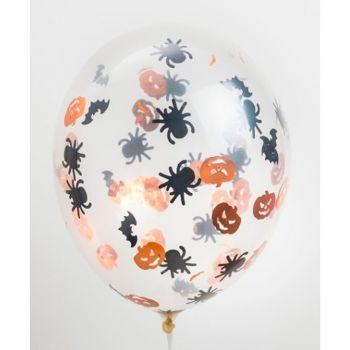 Ballons transparents avec confettis x6
