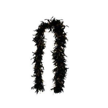 Boa glamour 180cm noir