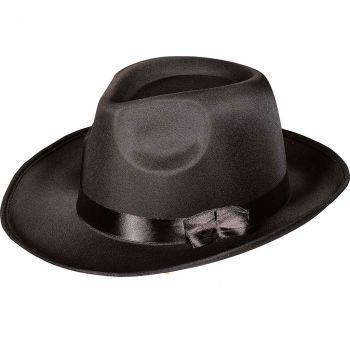 Borsalino satin noir taille 57/59