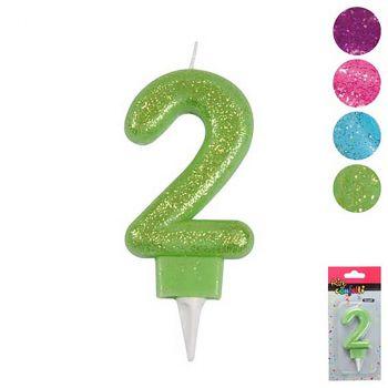 Bouge anniversaire chiffre 2 - 4 couleurs au choix