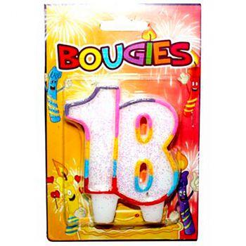Bougie blister nombre 18