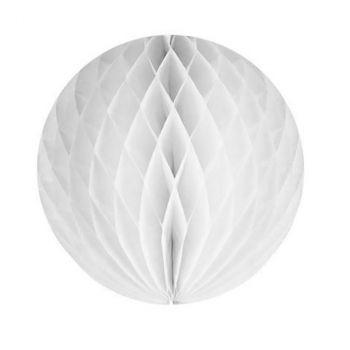 Boule alvéolée 20cm blanc