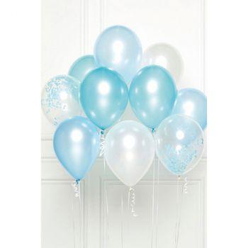 Bouquet ballons latex bleu x10
