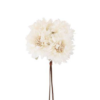 Bouquet fleur 26cm ivoire
