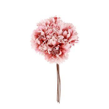 Bouquet fleur 26cm rose