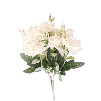 Bouquet fleur 29cm blanc