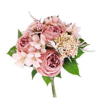 Bouquet fleur 29cm rose