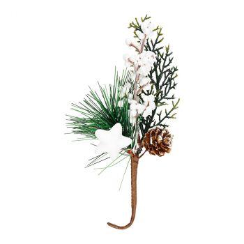 Branche de baie 20cm blanc