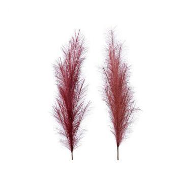 Branche plume 2col ass bordeaux D12cm H130cm