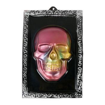 Cadre tête de mort en relief halloween 38x25cm