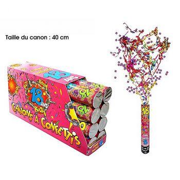 Canon à confettis 18ans