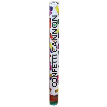 Canon à confettis métallique multicolore 60cm