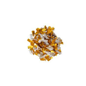 Canon à confettis papier 30cm blanc/or