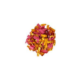 Canon à confettis papier 30cm rose/or