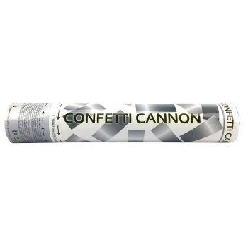 Canon à confettis rond argent 30cm