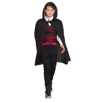 Cape  enfant avec capuche noir 115cm