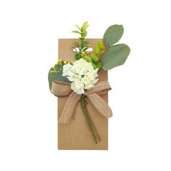 Carte bouquet de fleur blanc 20cm