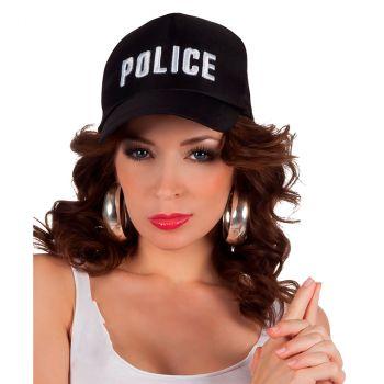 Casquette de police réglable