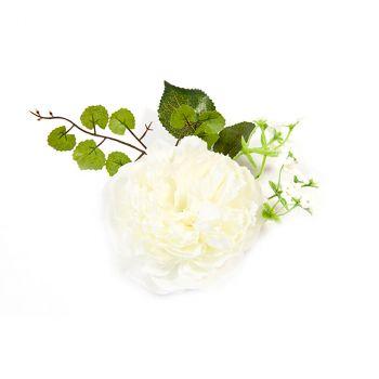 Centre de table pivoine et fleurs ivoire