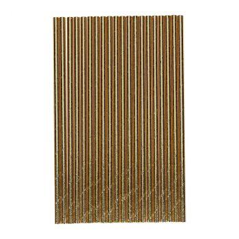 Chalumeaux papier 20cm x20 or