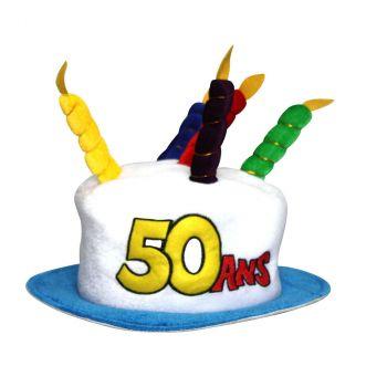 Chapeau d'anniversaire 50 ans