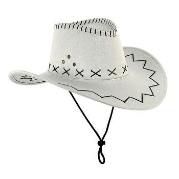 Chapeau de cowboy western blanc