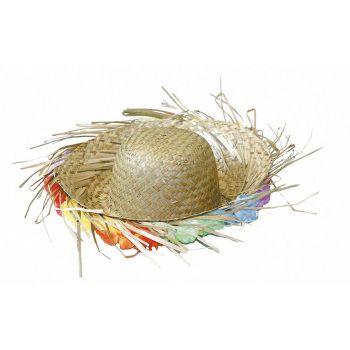 Chapeau de paille hawai à fleurs