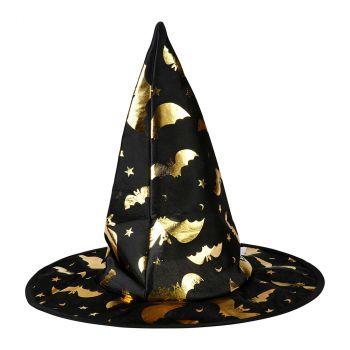 Chapeau de sorcière adulte doré halloween