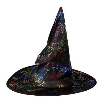 Chapeau de sorcière adulte irisé halloween