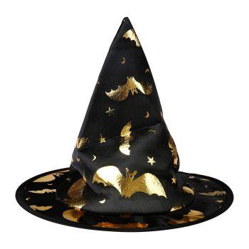 Chapeau de sorcière enfant doré halloween
