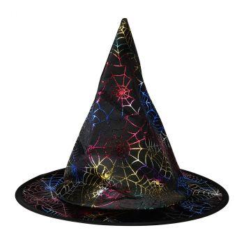 Chapeau  de sorcière enfant irisé halloween